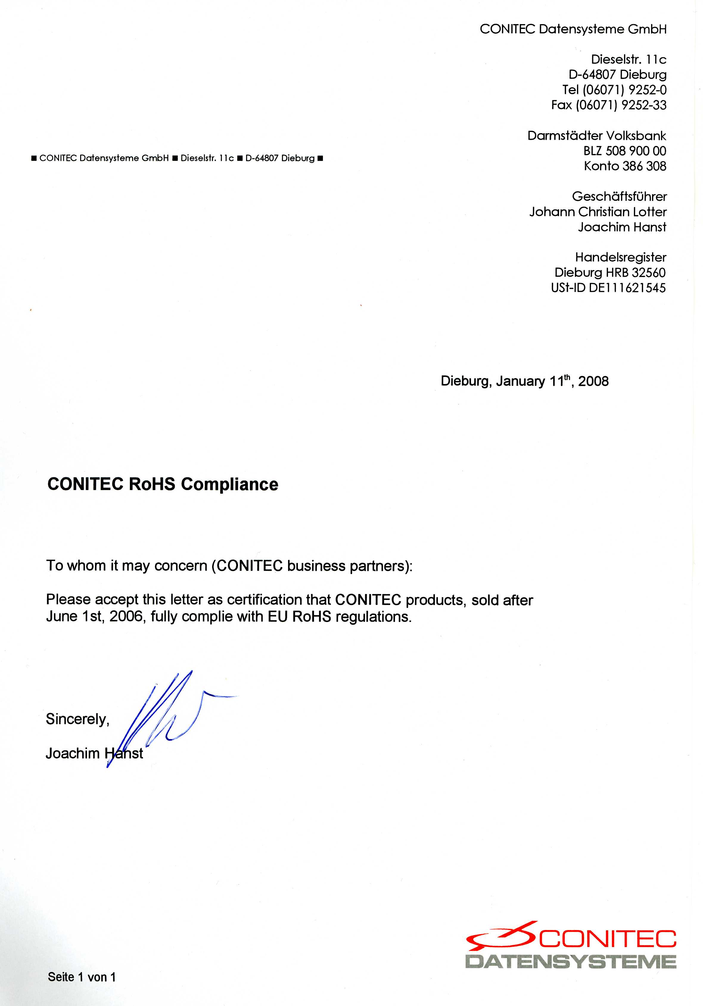 Rohs Certificate Of Compliance Form Timiznceptzmusic